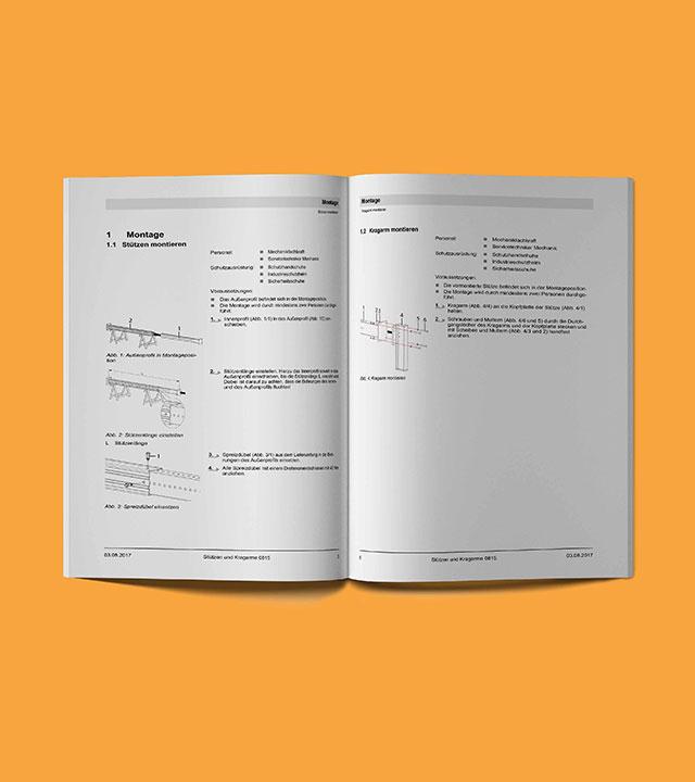 Technische Dokumentationen und visuelle Darstellungen